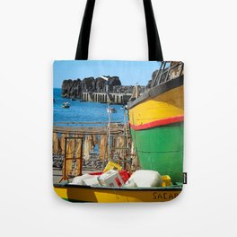Watching the ships come in... Tote Bag