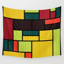 Mondrian Bauhaus Pattern #09 Wall Tapestry