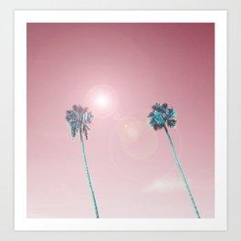 Pastelle Palms #summer vibes Art Print