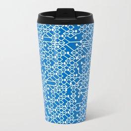 Microchip Pattern (Blue) Travel Mug