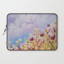 Look to the light, skyscape, landscape, flowers, wild flowers, clouds Laptop Sleeve