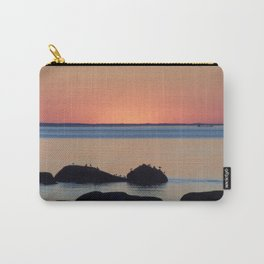 Peaceful Sunset Ship and Sea Carry-All Pouch