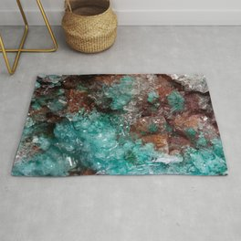 Dark Rust & Teal Quartz Rug