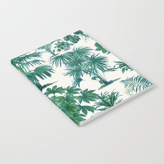 Exotic Tropical Palm Print Notebook