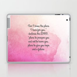 Jeremiah 29:11, Encouraging Bible Verse Laptop & iPad Skin