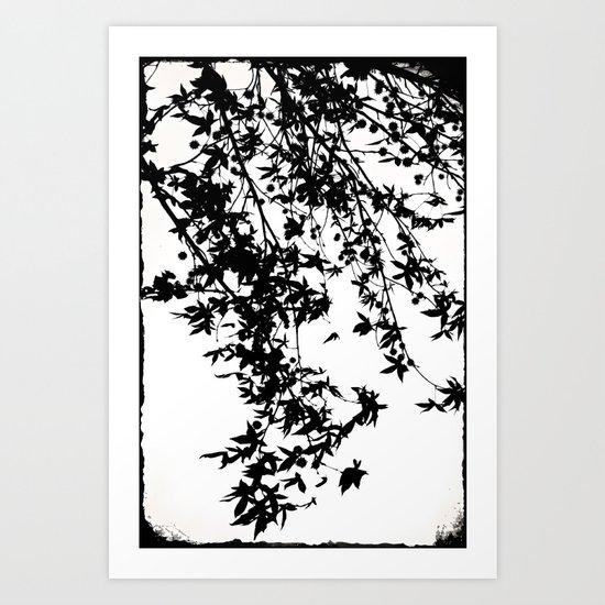 black on white Art Print