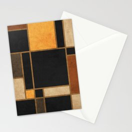 Mondrian Inspired 2 - Modernist Geometric Abstract Stationery Cards