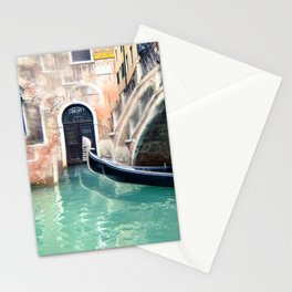 Gondola on the Canal in Venice Stationery Cards