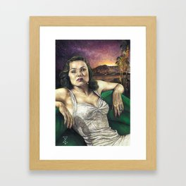 Where There's Smoke. Framed Art Print