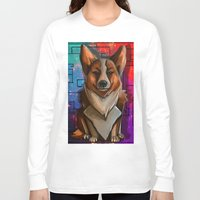 corgi Long Sleeve T-shirts featuring Corgi by Joshua M. Rhodes III