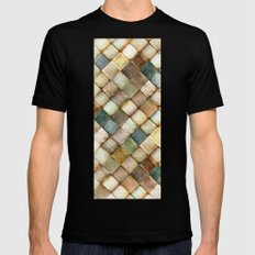 diamond path Black MEDIUM Mens Fitted Tee