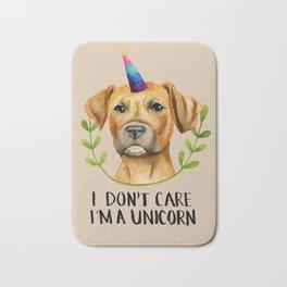 """""""I'M A UNICORN"""" Pit Bull Dog Illustration Bath Mat"""