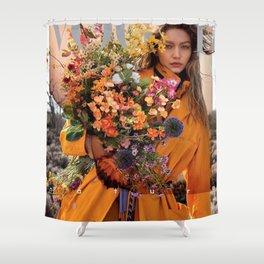 Gigi Hadid Flower Shower Curtain