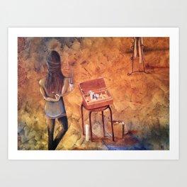 VISUALIZATION In my Studio Art Print