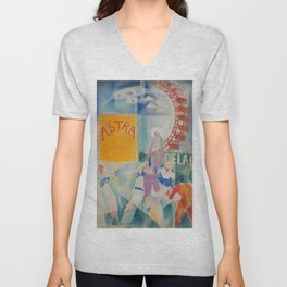 "Robert Delaunay ""Astra"" (also known as Study for ""The Football Players of Cardiff"") Unisex V-Neck"