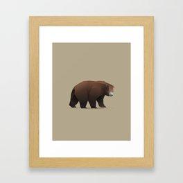 Geometric Bear - Modern Animal Art Framed Art Print