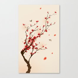 Oriental plum blossom in spring 005 Canvas Print