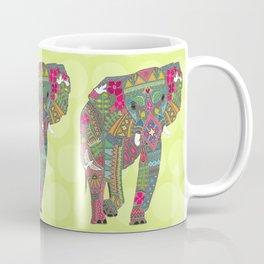 painted elephant chartreuse spot Coffee Mug