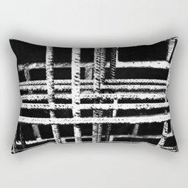 Rebar And Brick - Industrial Abstract Rectangular Pillow