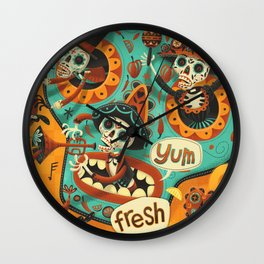 Day of the Dead - Mariachi Wall Clock