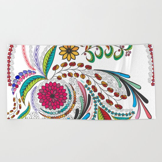 Colorful Vibes Beach Towel