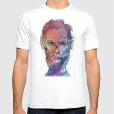 Zombie Lincoln Mens Fitted Tee SMALL White