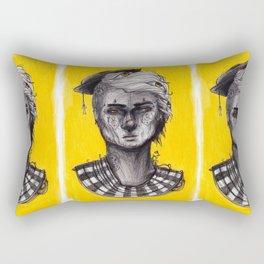 Seen in Yellow Rectangular Pillow
