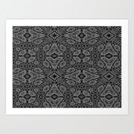 Midnight Black Art Print