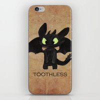 toothless iPhone & iPod Skins featuring Toothless  by Walko