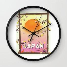 Japan Blossom Garden Wall Clock