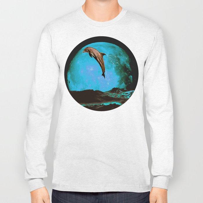 magician of seas - turquoise Long Sleeve T-shirt