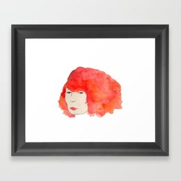 Fire Head Framed Art Print