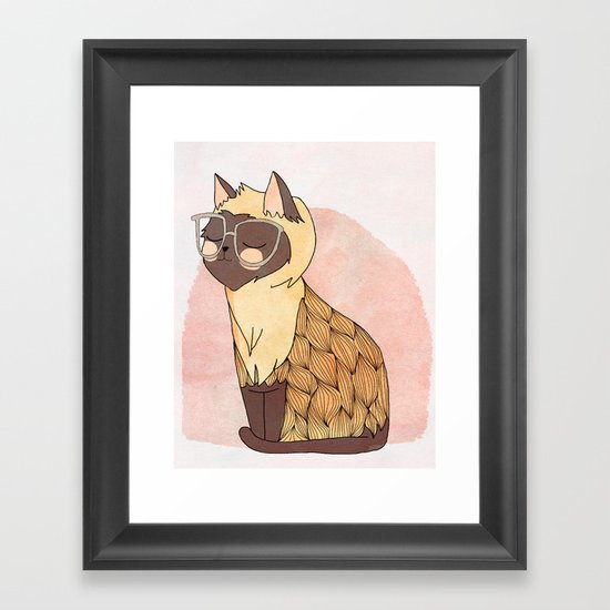 Hip Cat Framed Art Print
