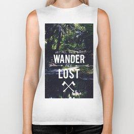 Not All Those Who Wander Biker Tank