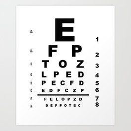 Eye Test Chart Art Print