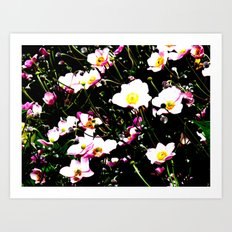 Pink Flowers (Edited)  Art Print