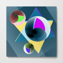 Updated with bowls Metal Print