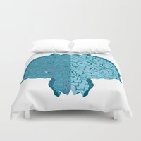 tron Duvet Covers featuring End of line. by Adwen Creative