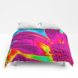 Flower | Flowers | Neon Daisy Comforters