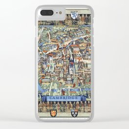 Cambridge University campus map Clear iPhone Case
