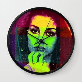 Pensive Beauty Wall Clock