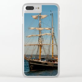 Southern Swan Sailing Ship Clear iPhone Case