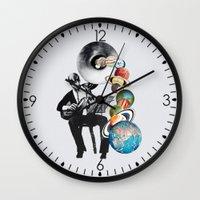 elf Wall Clocks featuring DMT Elf by Eugenia Loli
