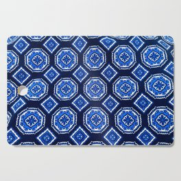 Patterned Up in Blue Cutting Board