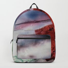 Carré rouge Backpack