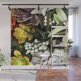 Exotic Succulent Garden Wall Mural