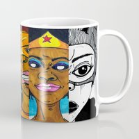 girl power Mugs featuring Girl Power by N3RDS+INK