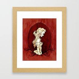 Lavinia Cameo Framed Art Print