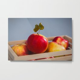 Box of Apples Metal Print