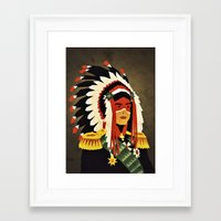 general Framed Art Prints featuring General Chief by Yetiland